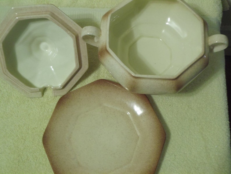 Signed 3 Piece Beautiful Serving Bowl