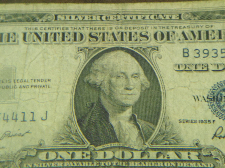1935 F 1 Dollar Blue Silver Certificate