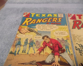 Vintage 2 1960s Texas Rangers Comic Books
