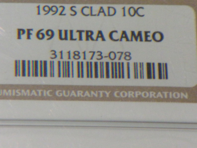 PF69 Ultra Cameo 1992-S Roosevelt Dime Clad