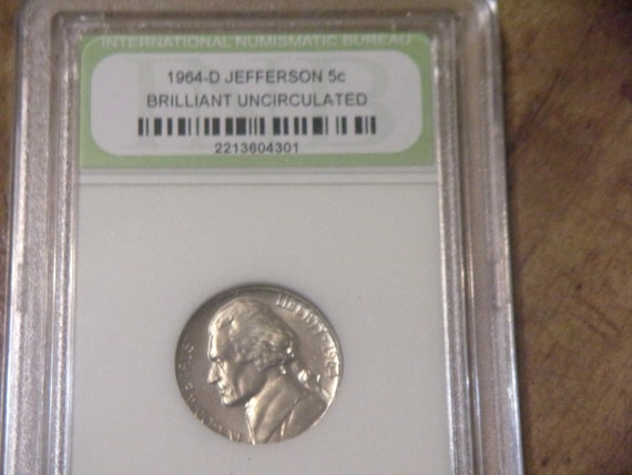 Graded BU 1964 D Jefferson Nickel