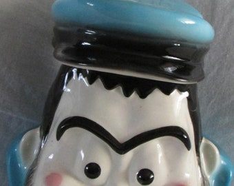 Rare 1992 Brutus Cookie Jar-Blue