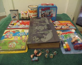 Large Grouping of Popeye Items