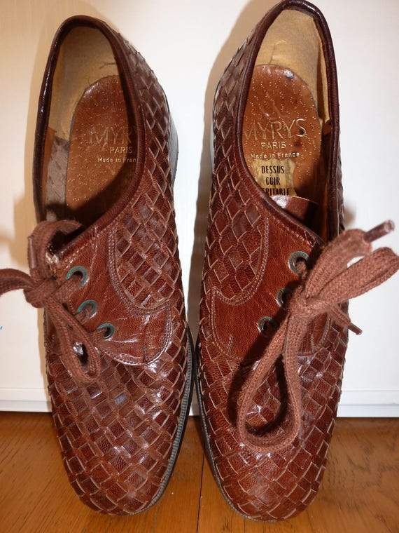 shoe woven leather and sole of crab - image 4
