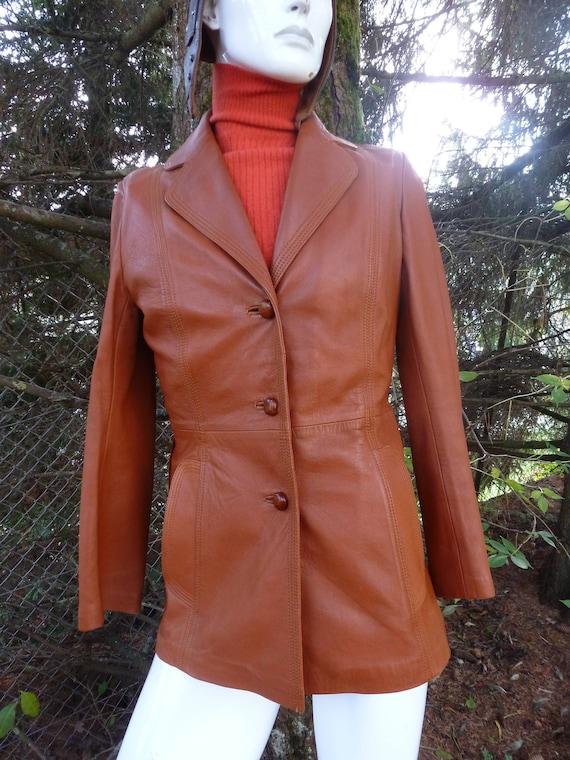 /blazer leather jacket