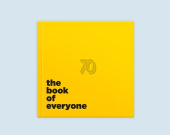 70th Birthday Gift Personalized Book From The Of Everyone