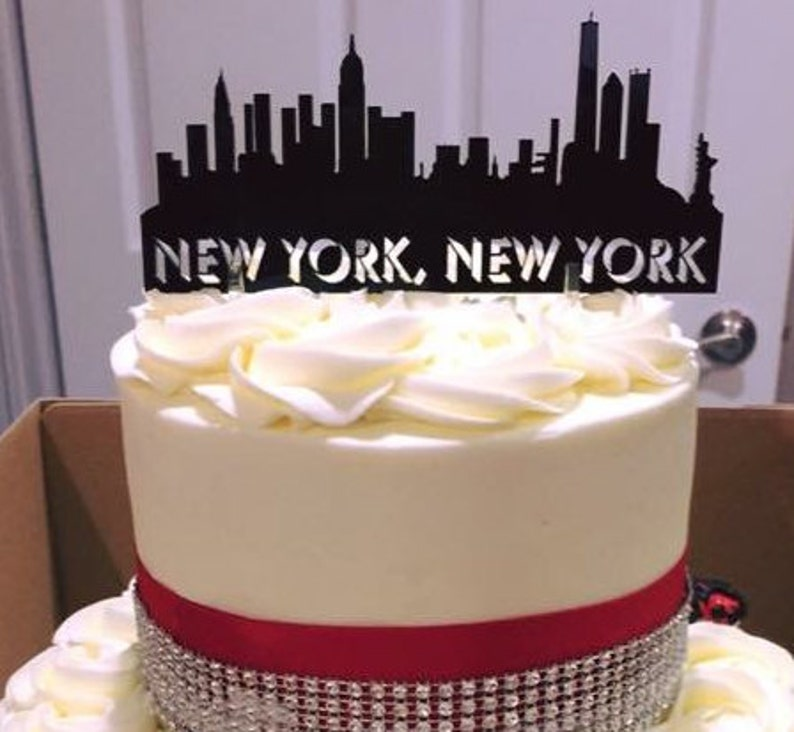 New York City Skyline Cake Topper Keepsake For The