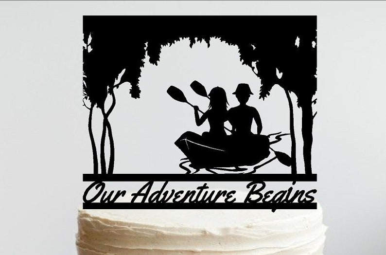 Canoeing Couple Under a Canopy of Trees, Bayou, Okefenokee, Bog, Swamp,  River, etc  Can be personalized with your name or phrase