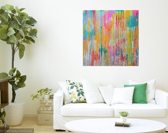 Abstract Painting Expressionist Original Canvas Acrylic Artwork Wall Art Rolled Canvas Artwork Abstract Composition