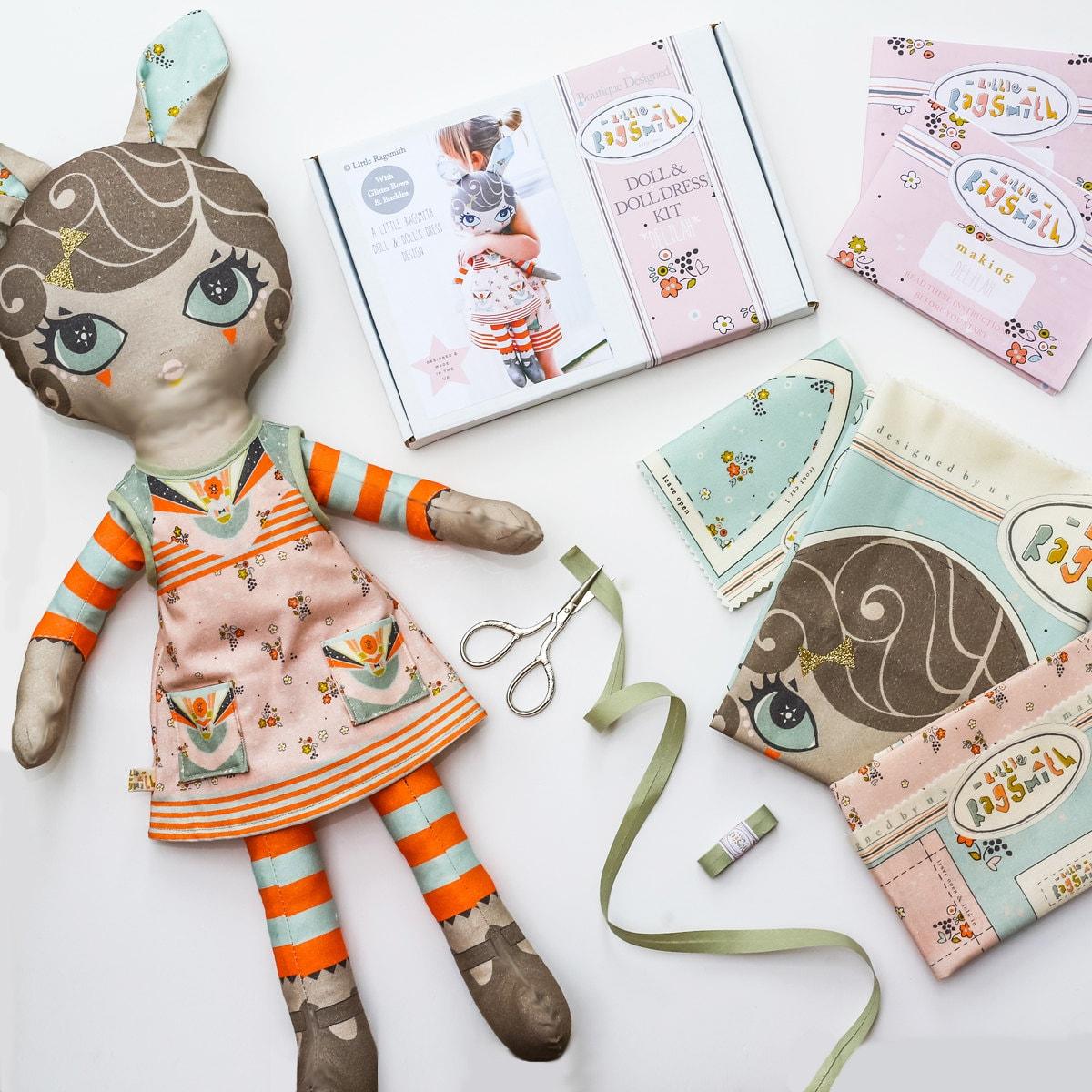 Puppe Nähen Bausatz Diy weichen Spielzeug Stoffpuppe Muster