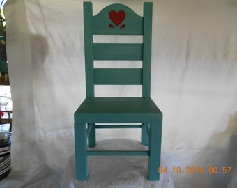 Agave Colored Wood Doll Chair   Refurbished
