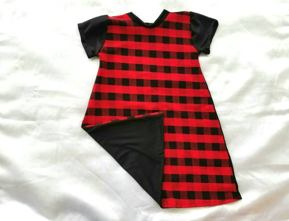 b2d040b90bb Red Buffalo plaid girls dress baby girls Valentine s day
