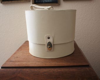 Vintage 1960s Hat/Wig Box with Styrofoam Insert From Everbest Hollywood, Florida
