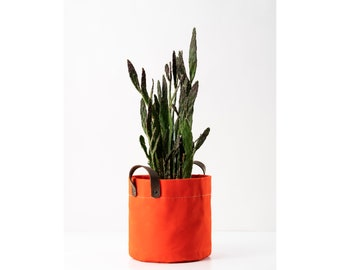 Waxed Canvas Plant Basket  | Indoor Cotton Planter Cover Plant Pot Cover | Pot Container  2nd year anniversary gift | Gift For Him / Her