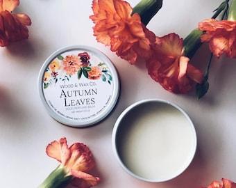 AUTUMN LEAVES Solid Perfume | Natural Perfume Balm