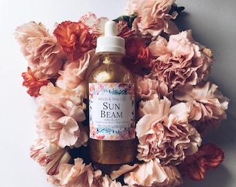 SUN BEAM Body Oil | Body Nectar | Shimmering Body Oil | Shimmering Bath + Body Nectar | Golden Bath + Body Oil