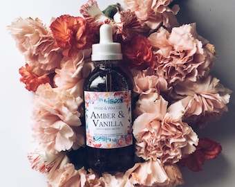 AMBER & VANILLA Bath + Body Nectar | Body Oil | Bath Oil