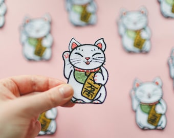 Maneki-Neko Luckycat Iron On Patch