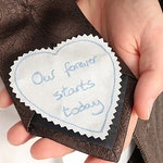 Personalized wedding gift - Tie patch - Custom embroidered patch - Custom handwriting - Groom gift from bride - I love you