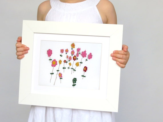 Personalized Your Childs Art Custom Embroidery 80th Etsy