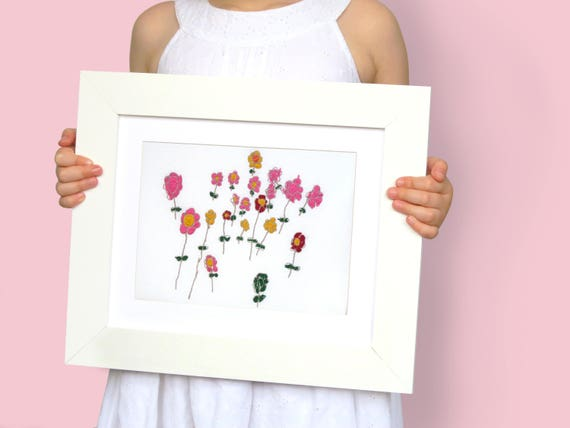 Personalized Your Childs Art Custom Embroidery 80th