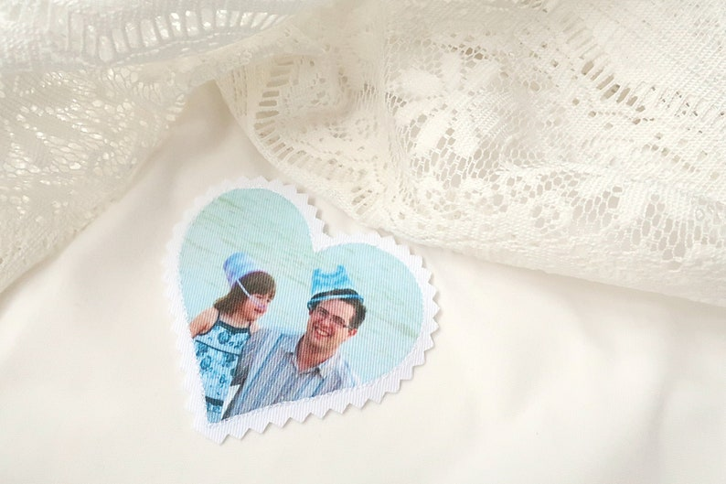 Custom wedding dress label with your family photo. image 0