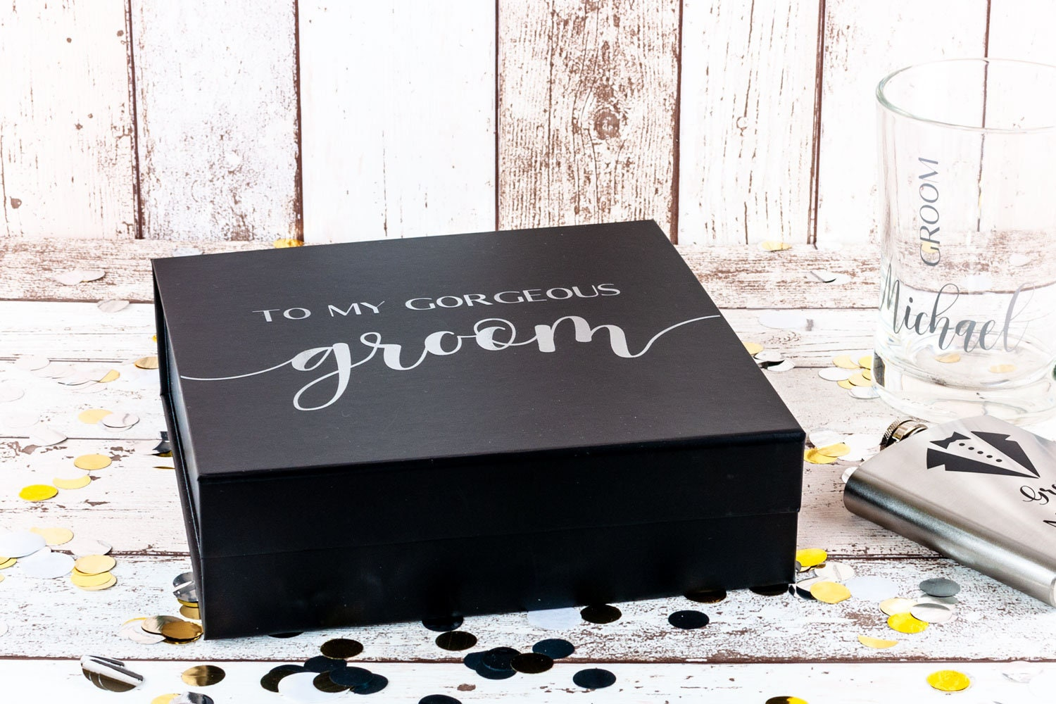 Wedding Gift For Husband To Be: Groom Box To My Groom Wedding Day Gift Box Husband To Be