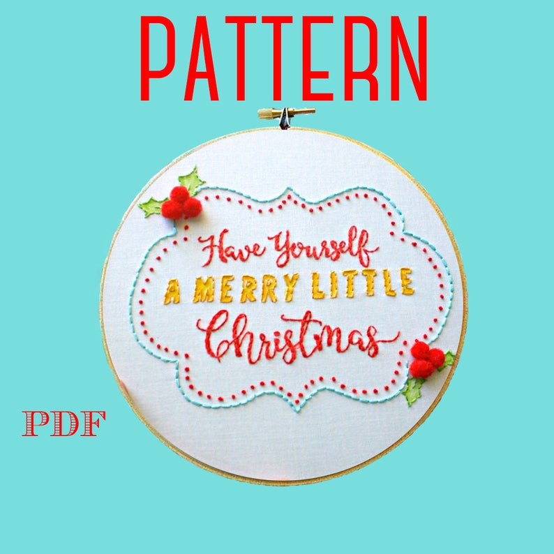 Christmas Embroidery PatternInstant Download PDFHand image 0
