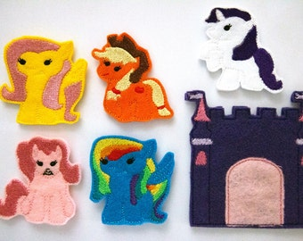 My Little Pony Friendship is Magic Inspired Finger Puppets