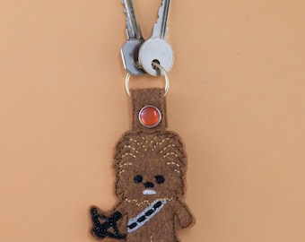 Chewy Chewbacca Star Wars Inspired Keychain Fob, Star Wars gift, unique gift, stocking stuffer, gift for friend, gift for coworker