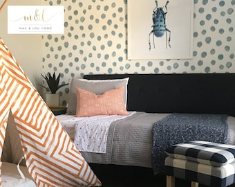 Watercolor Dots • Removable Peel 'n Stick or Prepasted Wallpaper