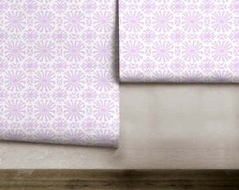 Cusco Mini / Lavender Peel 'n Stick Removable Wallpaper; Great for rentals and apartments!