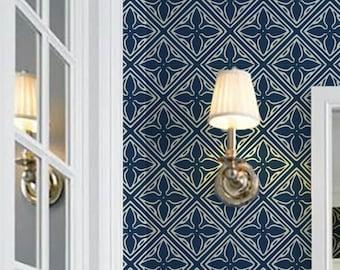 Tangier Repositionable Peel 'n Stick Wallpaper Custom Colors!