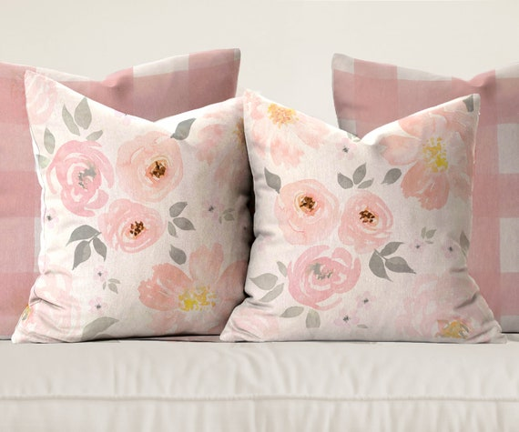 amara floral \u0026 gingham pillows