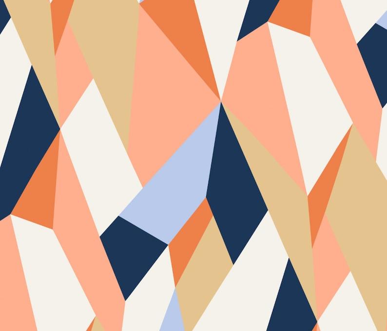 Moderne Geometric \u2022 Peel /'n Stick or Traditional Wallpaper \u2022\u00a0Free Custom Colors \u2022 Vinyl-Free \u2022  Non-toxic
