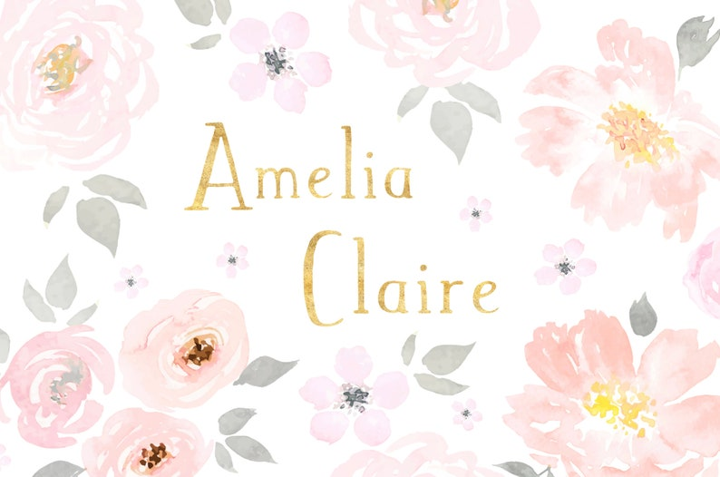 personalized floral print girl\u0027s room art etsyimage 0