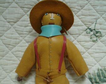 Handsewn buckskin cowboy doll named Billy
