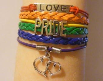 Pride bracelet, pride jewelry, LGBT bracelet, LGBT jewelry, fashion bracelet, fashion jewelry, rainbow bracelet, rainbow jewelry