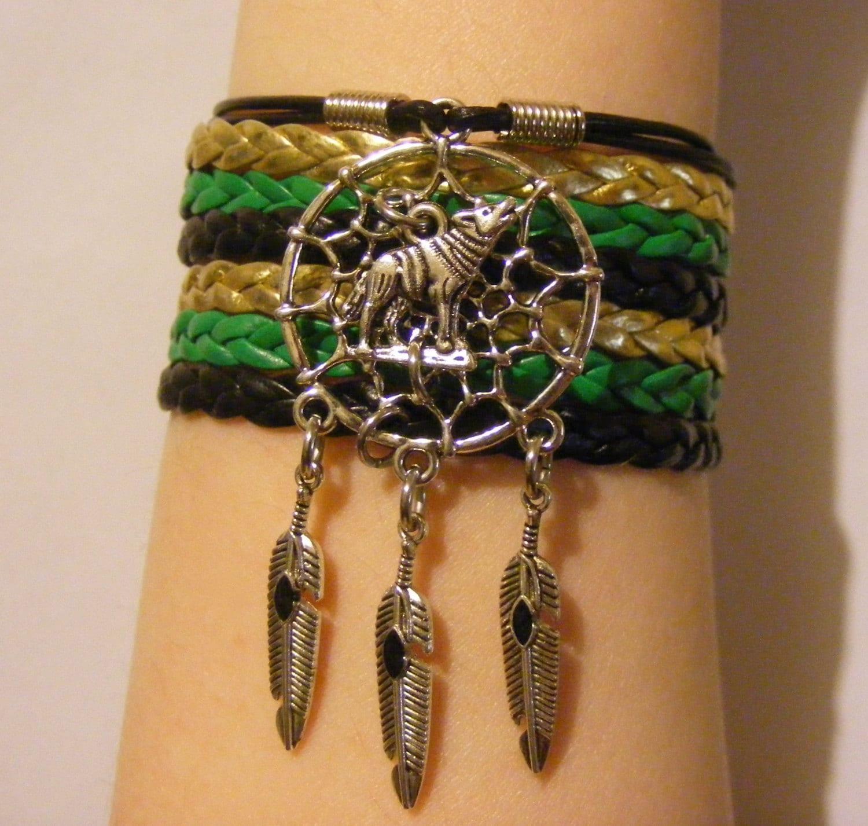 Wolf Charm Bracelet: Wolf Bracelet Wolf Jewelry Dreamcatcher Bracelet