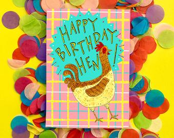 Happy Birthday Hen! Scottish Slang Greetings Card