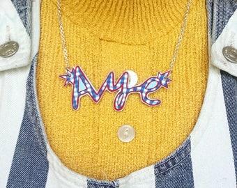 AYE illustrated necklace, Scottish Slang Necklace