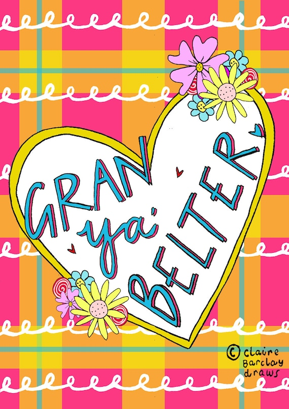 Gran Ya Belter Mother's Day Greetings Card, Scottish Slang Card for a  Fabulous Grandmother