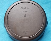 Iron Mountain By Griswold 8 Cast Iron Chicken Fryer Skillet Heat Ring 1034B Cleaned Seasoned
