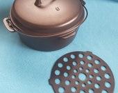 Iron Mountain by Griswold 8 Cast Iron Dutch Oven w Lid Trivet Cleaned Seasoned 1036 1037 188