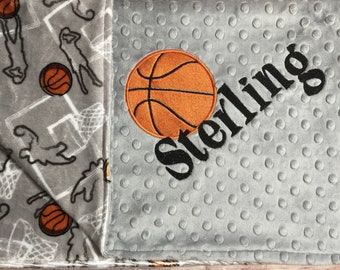 24ba8b0c324 Personalized Baby Blanket Basketball Baby Blanket Sports Theme Nursery  Adult Blanket Basketball Lover Gift