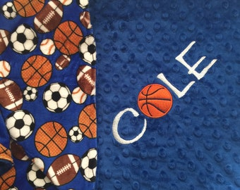 8f4252489c9 Personalized Baby Blanket Basketball Baby Blanket Sports Theme Nursery  Adult Blanket Basketball Lover Gift Basketball Nursery Gift
