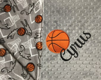 4a6100c9e14 Personalized Baby Blanket Basketball Baby Blanket Sports Theme Nursery  Adult Blanket Basketball Lover Gift Basketball Nursery Basketball