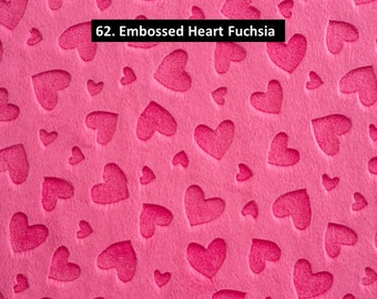 Fuchsia Cuddle Minky Dimple Dot Fabric Shannon Fabrics Hot Pink Cut to Order