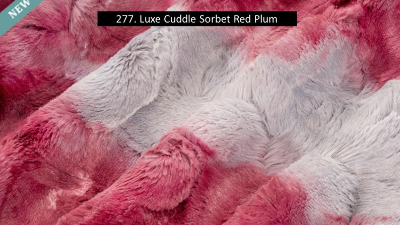 Gorgeous Plush Light Maroon Light Grey Luxe Tie Dye Minky Fabric By The Yard Shannon Luxe Red Plum Cuddle Sorbet Tie Dye Reds