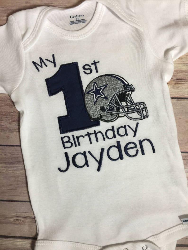 24747fb4 First Birthday Shirt Personalized T-shirt Monogram Option NFL | Etsy